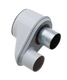 Адаптер для перехода с раздельных труб диам.80 мм на коакс.диам.125/80 мм,НТ