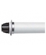 Коаксиальная труба ПП с наконечником, диам 80/125 мм, длина 1,0 м, НТ