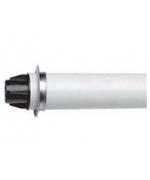 Коаксиальная труба ПП с наконечником, диам 60/100 мм, длина 0,75м,НТ