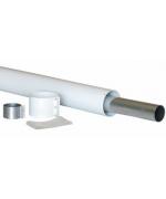 Коаксиальное удлинение для присоединение к единому коаксиальному дымоходу типа LAS