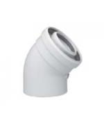 Коаксиальный отвод ПП45 град, диам.110/160 мм, НТ