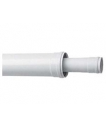 Коаксиальное удлинение ПП c наконечником, диам 80/125 мм, длина 1,0 м,НТ